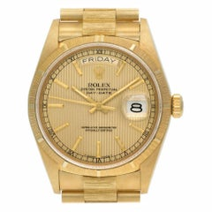 Certified Authentic Rolex Day-Date 19056, Gold Dial