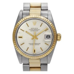 Certified Authentic Rolex Datejust 5988, White Dial