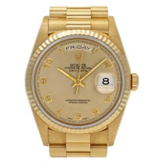 Certified Authentic Rolex Day-Date 21000, Beige Dial