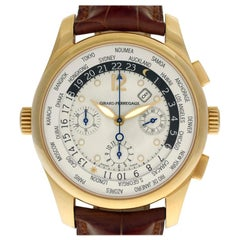 Certified Authentic Girard Perragaux World Time 17280, White Dial