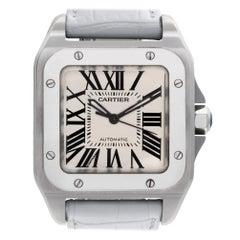 Certified Authentic Cartier Santos 1005292, Silver Dial