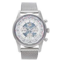 Certified Authentic Breitling Transocean 9726, Silver Dial