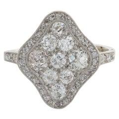 2.40 Carat Diamond & Platinum Shield Ring