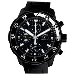 Certified Authentic IWC Aquatimer 5736, Black Dial