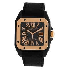 Certified Authentic Cartier Santos 1007500, Black Dial
