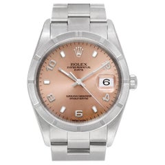 Certified Authentic Rolex Date 5940, Silver Dial
