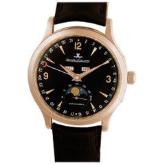 Certified Authentic Jaeger LeCoultre Master Moon 22200, Black Dial