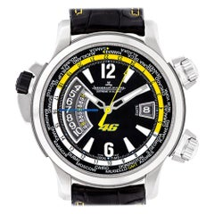 Certified Authentic, Jaeger LeCoultre Master Compressor 11340, Black Dial