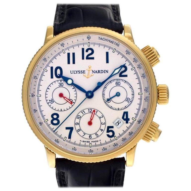 Certified Authentic, Ulysse Nardin Marine 10560, Black Dial