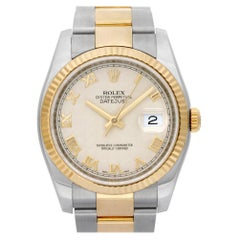 Certified Authentic Rolex Datejust 10500, Silver Dial