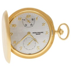 Certified Authentic, Patek Philippe Pocket Watch 50040, Gold Dial