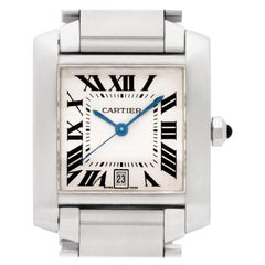 Certified Authentic, Cartier Tank Francaise 4188, White Dial