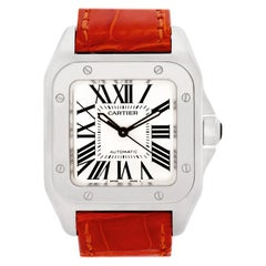 Certified Authentic Cartier Santos 1004914, 30 Black Dial