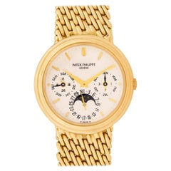 Certified Authentic Patek Philippe Perpetual Calendar 55800, Beige Dial