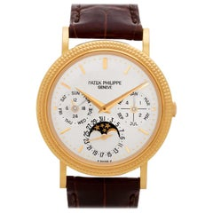 Certified Authentic Patek Philippe Perpetual Calendar 45000, White Dial