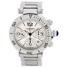 Certified Authentic Cartier Pasha 7440, 26 Grey Dial