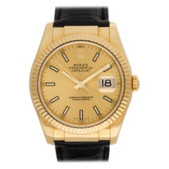 Certified Authentic Rolex Datejust 14280, Silver Dial