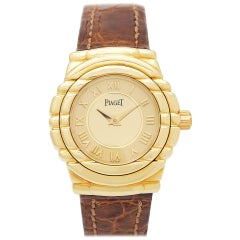 Certified Authentic Piaget Tanagra 5520, Gold Dial