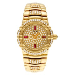 Certified Authentic, Piaget Tanagra 28200, 25 Gold Dial
