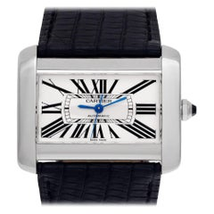 Certified Authentic Cartier Tank Divan 4200, Silver Dial