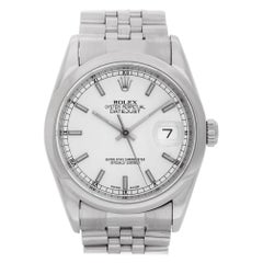Certified Authentic Rolex Datejust 5940, Silver Dial