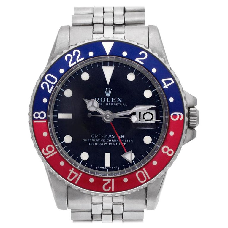 Certified Authentic Rolex GMT Master II 17940, Gold Dial