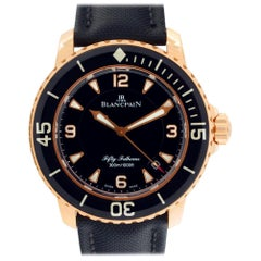 Certified Authentic Blancpain Fifty Fathoms 22524, Black Dial