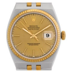 Certified Authentic Rolex Oysterquartz 6480, Gold Dial