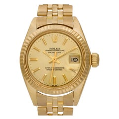 Certified Authentic Rolex Datejust 7188, Champagne Stick  Dial