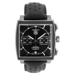 Certified Authentic TAG Heuer Monaco 4740, Black Dial