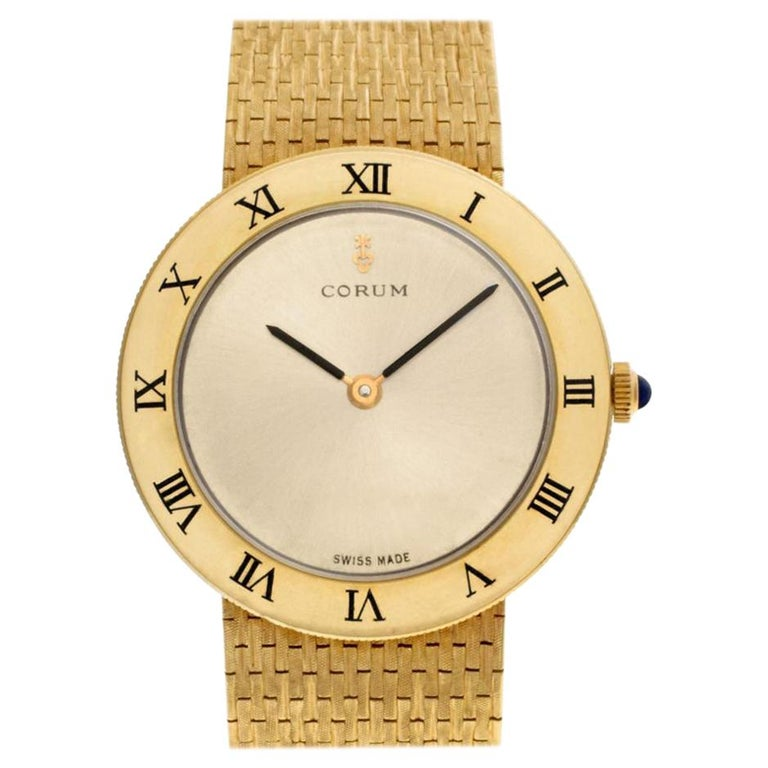 Certified Authentic Corum Classic 7740, Gold Dial