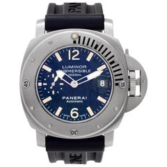 Certified Authentic Panerai Luminor Submersible 9072, Silver Dial