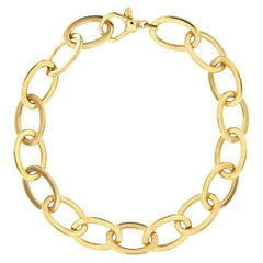 Jona 18 Karat Yellow Gold Link Chain Bracelet