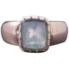 Antique Georgian Ring 18 Carat Gold Rock Crystal, circa 1780