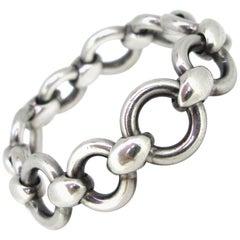 Hermès Round Links Chain Silver Bracelet