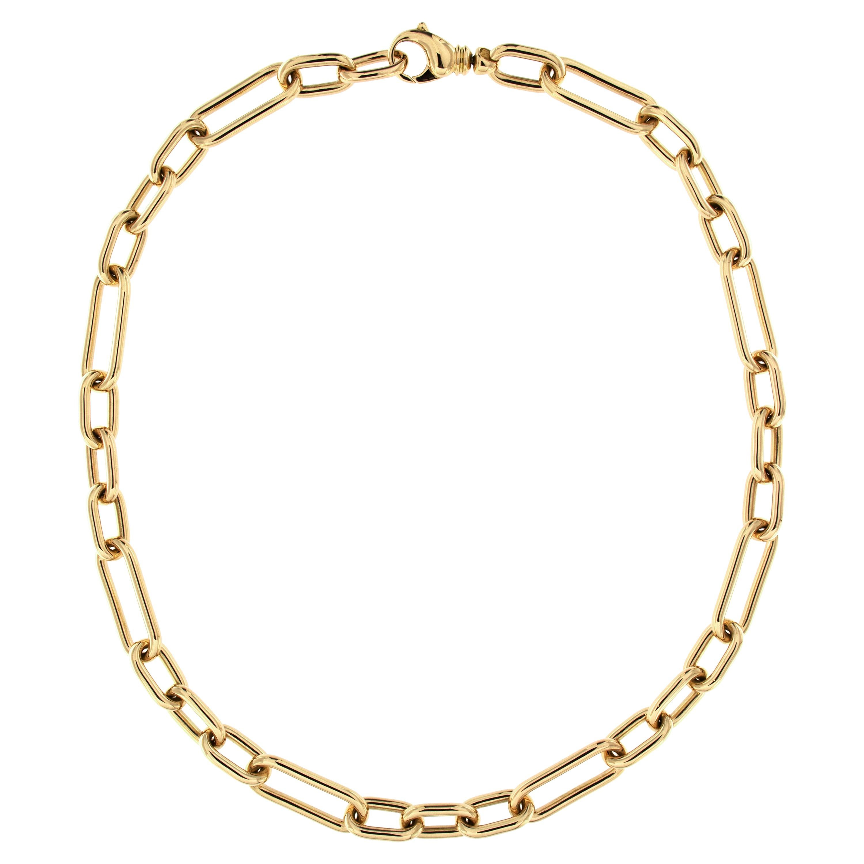 Alex Jona 18 Karat Yellow Gold Link Chain Necklace