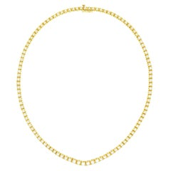 Diamond-set Gold Riviere Necklace