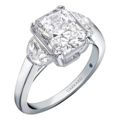 Garrard 'Charisma' Platinum,  GIA White Diamond Radiant & Half Moon Cut Ring