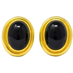 Paloma Picasso Tiffany & Co. 1985 Onyx 18 Karat Gold Earrings
