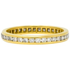 Contemporary 0.75 Carat Diamond 14 Karat Gold Eternity Band Stack Ring