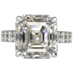 Harmony 9 Carat Rectangular Cut J Color VS Clarity Diamond Engagement Ring