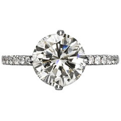 Valerie 3 Carat Round Cut H Color Vs2 Clarity Diamond Ring '3.41 Carat'