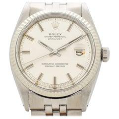 Vintage Rolex Datejust Reference 1601 Wide Boy, 1972