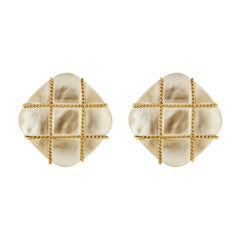 Valentin Magro Tic Tac Toe Crystal and Mother of Pearl Earrings