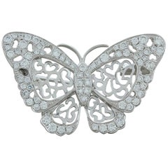 Diamond Gold Butterfly Brooch