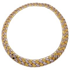 Chimento 18KT Yellow & White Gold Reversible Necklace with 3.60ct. Diamonds
