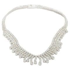 18 Karat Piero Milano Diamond Tennis Necklace 17 Carat