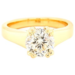 Stunning 1.57 Carat Star 129 Diamond with AGS Lab Report in 18 Karat Yellow Gold