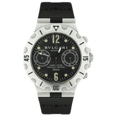 Bvlgari Scuba Stainless Steel Wristwatch