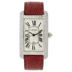 Cartier Large American Tank White Gold Wristwatch